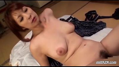 Busty Milf With Hairy Pussy Sucking Young Guy Riding On His Cock On The Mattress