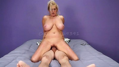 Big Titted MILF Sucks Cock, Licks Ass Cum in Mouth Short Version