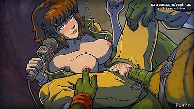 April O'Neil gets her fleshy labia monstrously nailed and nutted inside by the ninja turtles l My sexiest gameplay moments l The Mating Season l Part #2