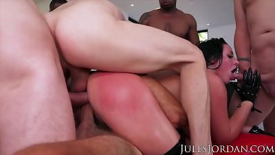 Jules Jordan - Angela White's Dark Side Her Biggest Gangbang Ever, Double Anal, Triple Penetration!