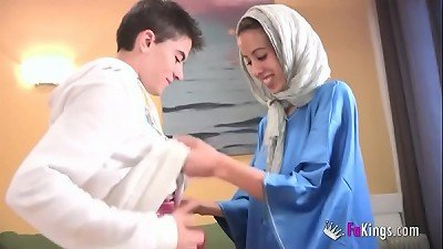 We surprise Jordi by gettin him his first-ever Arab girl! lean teen hijab