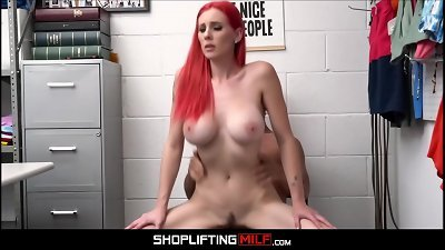 thin huge boobs milf red Hair Lilian Stone Caught Shoplifting nailed By Guard After Deal Is Reached