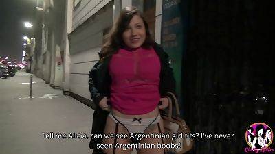 fantastic argentinian chick Alicia from Corrientes wants to tastes a fat French meat