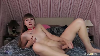 dame passionately frigging slit And pummeling faux-cock introducing hookup With You - JOI Game