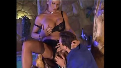 Hot chick in sexy lingerie seduces doctor for fuck