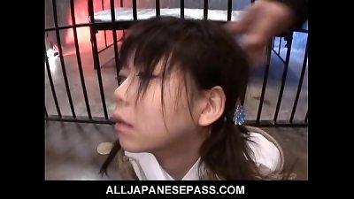 Kinky Wild Sex for teen Minami Asaka and her shaved pussy