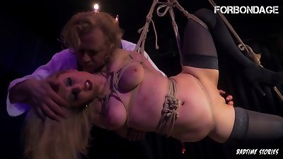 FORBONDAGE - German cougar Mary O. Got roped Up And Deep nailed By insatiable sir